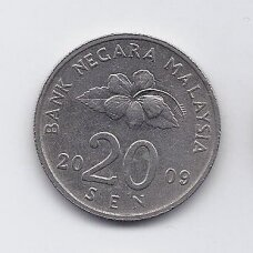MALAIZIJA 20 SEN 2009 KM # 52 VF