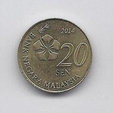 MALAIZIJA 20 SEN 2014 KM # 203 XF