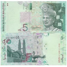 MALAIZIJA 5 RINGGIT 2001 P # 41b AU