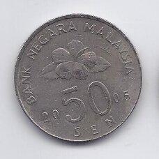 MALAIZIJA 50 SEN 2005 KM # 53 VF