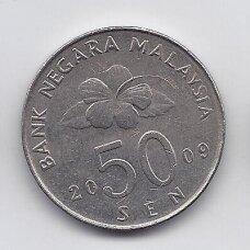 MALAIZIJA 50 SEN 2009 KM # 53 XF