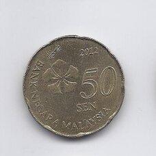 MALAIZIJA 50 SEN 2012 KM # 204 XF