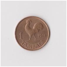 MALAVIS 1 TAMBALA 1971 KM # 7.1 XF