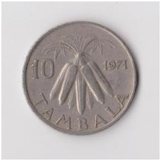 MALAVIS 10 TAMBALA 1971 KM # 10.1 VF