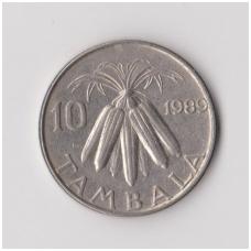 MALAVIS 10 TAMBALA 1989 KM # 10.2a VF