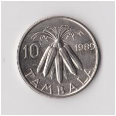MALAVIS 10 TAMBALA 1989 KM # 10.2a XF