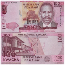MALAVIS 100 KWACHA 2017 P # NEW UNC