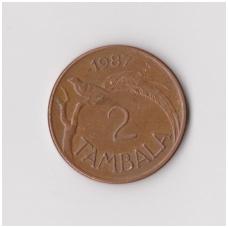 MALAVIS 2 TAMBALA 1987 KM # 8.2a VF