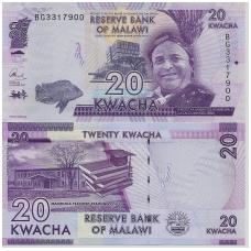 MALAVIS 20 KWACHA 2017 P # NEW UNC