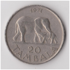 MALAVIS 20 TAMBALA 1971 KM # 11 VF