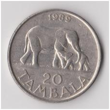 MALAVIS 20 TAMBALA 1989 KM # 11.2a VF