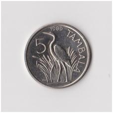 MALAVIS 5 TAMBALA 1989 KM # 9.2a XF