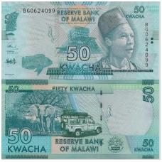 MALAVIS 50 KWACHA 2017 P # NEW UNC