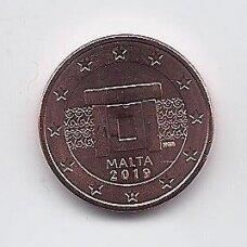 MALTA 1 EURO CENT 2019 KM # 125 UNC