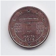 MALTA 1 EURO CENT 2018 KM # 125 UNC