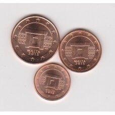 MALTA MINI EUROCENTS SET ( 1,2 and 5 eurocents)