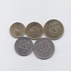 MAROKAS 1974 m. 5 monetų rinkinys (XF - AU)