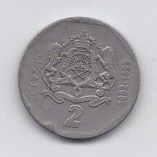 MAROKAS 2 DIRHAMS 2002 Y # 118 VF