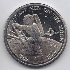 MARŠALO SALOS 5 DOLLARS 1989 KM # 13 UNC