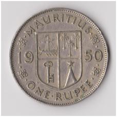 MAURICIJUS 1 RUPEE 1950 KM # 29.1 VF