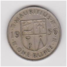 MAURICIJUS 1 RUPEE 1956 KM # 35 VF