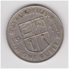 MAURICIJUS 1 RUPEE 1971 KM # 35 VF