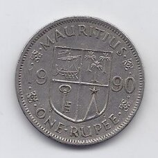MAURICIJUS 1 RUPEE 1990 KM # 55 VF