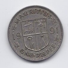 MAURICIJUS 1 RUPEE 1991 KM # 55 VF