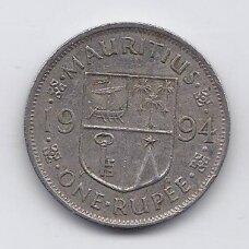MAURICIJUS 1 RUPEE 1994 KM # 55 VF
