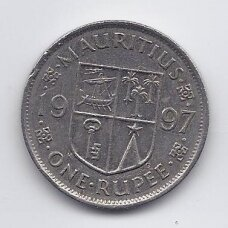 MAURICIJUS 1 RUPEE 1997 KM # 55 VF