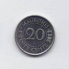 MAURICIJUS 20 CENTS 2012 KM # 53 XF