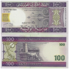MAURITANIJA 100 OUGUIYA 2004 P # 10 UNC
