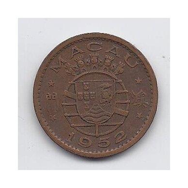 MAKAO 10 AVOS 1952 KM # 2 VF 2