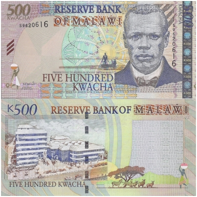 MALAVIS 500 KWACHA 2003 P # 48 UNC