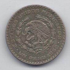 MEKSIKA 1 PESO 1958 KM # 459 VF