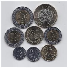 MEKSIKA 1995 - 2013 m. 8 monetų komplektas