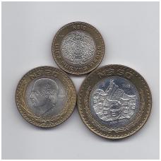 MEKSIKA 1993 m. 3 monetų komplektas