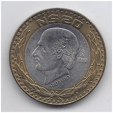 MEKSIKA 20 NUEVOS PESOS 1993 KM # 561 UNC