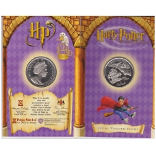MENO SALA 1 CROWN 2002 KM # 1148 UNC HARRY POTTER