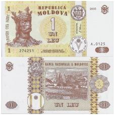 MOLDOVA 1 LEU 2005 P # 8f UNC