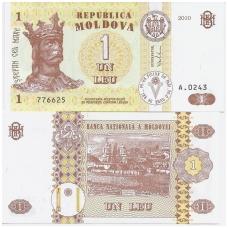 MOLDOVA 1 LEU 2010 P # 8h AU
