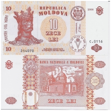 MOLDOVA 10 LEI 2006 P # 10e UNC