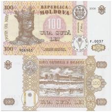 MOLDOVA 100 LEI 2008 P # 15b UNC