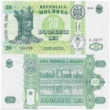 MOLDOVA 20 LEI 2006 P # 13h UNC