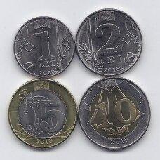 MOLDOVA 2018 - 2020 m. 4 monetų rinkinys