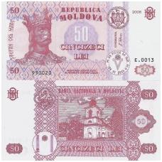 MOLDOVA 50 LEI 2008 P # 14e UNC