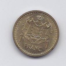 MONAKAS 1 FRANC 1945 KM # 120a VF