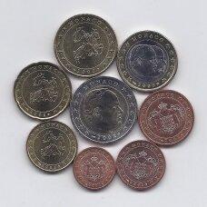 MONAKAS 2002 m. EURO MONETŲ RINKINYS