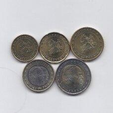 MONAKAS 2003 m. 5 monetų rinkinys