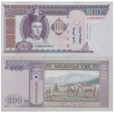 MONGOLIJA 100 TUGRIK 2014 P # 65 UNC